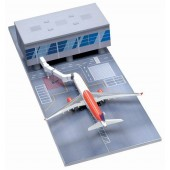 Dragon Models 1:400 Airport Terminal Section with Sky Service A330-300 (Straight Terminal Section)(Straight) - Jetway bridge - Runway tarmac