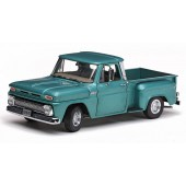 Sun Star 1965 Chevy C-10 Step side Side Pickup Truck, Turquoise - 1/18 Scale Diecast Model Toy Car
