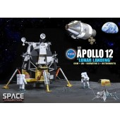 "Dragon Models 1:72 Apollo 12 ""Lunar Landing"" CSM + Lunar Module + Surveyor 3 + Astronauts"
