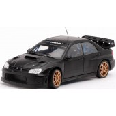 Sun Star Modern Rally - Subaru Impreza WRC07 Race Car (1/18 scale diecast model car, Flat Black Plain Version) 4398